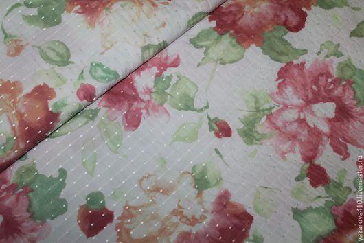 Шитье ручной работы. Ярмарка Мастеров - ручная работа. Купить Ткань,жаккард,на белом фоне нежные цветы в розовом цвете,Франция. Handmade.