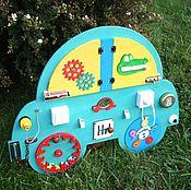 """Бизиборды ручной работы. Ярмарка Мастеров - ручная работа Бизиборд """"Машинка"""". Бизиборд для мальчиков. Handmade."""