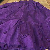 Одежда ручной работы. Ярмарка Мастеров - ручная работа Юбка хлопковая ярусная на резинке длинная регулируемый размер S-XL. Handmade.