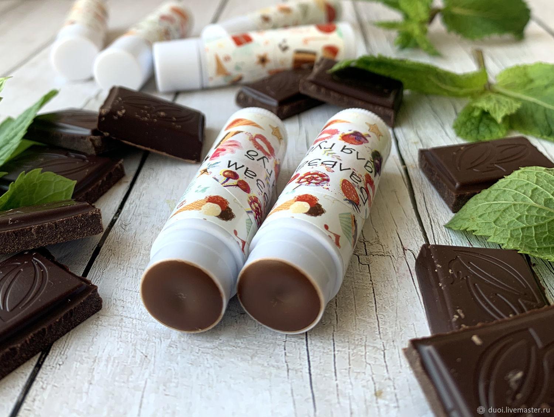 Lip balm Chocolate and mint, Lip Balm, Moscow,  Фото №1