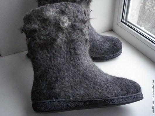"""Обувь ручной работы. Ярмарка Мастеров - ручная работа. Купить Сапоги-валенки """"Благородное серебро"""". Handmade. Серый, сапожки валяные"""