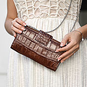 Сумки и аксессуары handmade. Livemaster - original item Women`s crocodile leather clutch. Handmade.