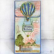 """Открытки ручной работы. Ярмарка Мастеров - ручная работа Конверт для денег """"С Днем рождения!"""". Handmade."""