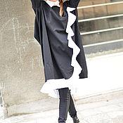 Одежда handmade. Livemaster - original item Cotton dress with white collar - DR0081CW. Handmade.