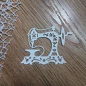 Материалы для творчества handmade. Livemaster - original item !Cutting for scrapbooking - SEWING MACHINE, diz card. Handmade.