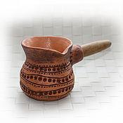 Посуда ручной работы. Ярмарка Мастеров - ручная работа Турка для кофе.. Handmade.