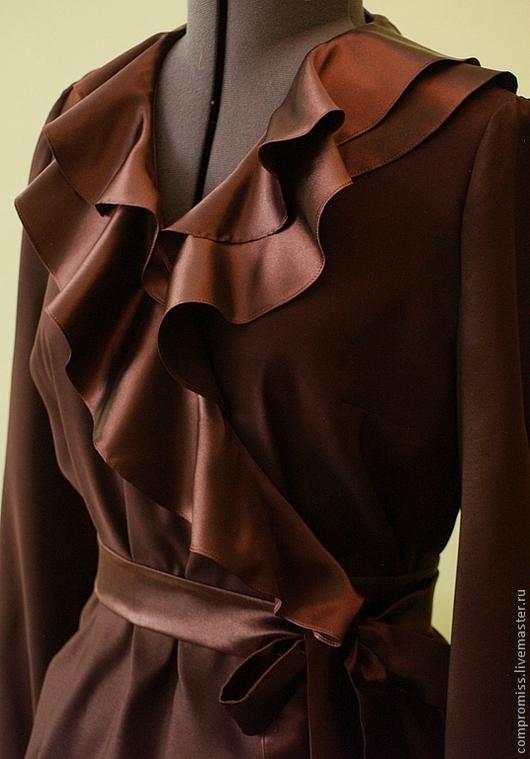 Блузки ручной работы. Ярмарка Мастеров - ручная работа. Купить блузка женская. Handmade. Бордовый, блузки, пошив