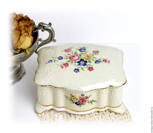 Винтажные предметы интерьера. Ярмарка Мастеров - ручная работа. Купить Баварская фарфоровая шкатулка. Handmade. Антиквариат, винтажный стиль