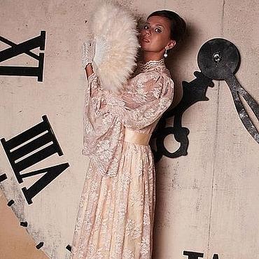 """Одежда ручной работы. Ярмарка Мастеров - ручная работа Викторианское платье """"Принцесса 19 века"""" персик (новое прочтение. Handmade."""