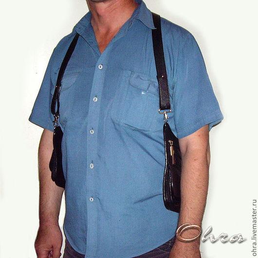Мужские сумки ручной работы. Ярмарка Мастеров - ручная работа. Купить Сумка-кобура мужская. Handmade. Черный, визитка