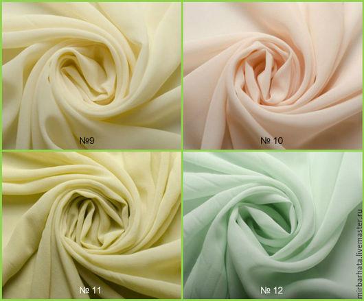 Нежнейший итальянский шелковый шифон. Пастельные тона. Прекрасная ткань для пошива платья,блузки или юбки.