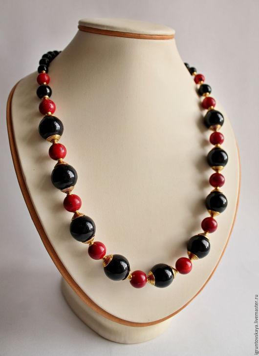 Колье, бусы ручной работы. Ярмарка Мастеров - ручная работа. Купить Модные бусы из натуральных камней. Handmade. Комбинированный