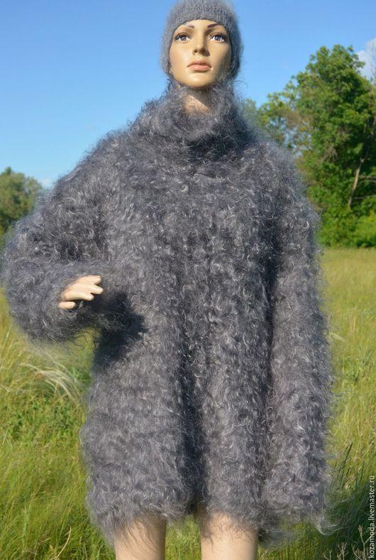 Кофты и свитера ручной работы. Ярмарка Мастеров - ручная работа. Купить СВИТЕР вязаный ручная работа из 100% натурального козьего пуха. Handmade.