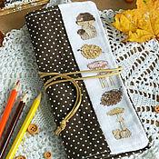 """Канцелярские товары ручной работы. Ярмарка Мастеров - ручная работа Пенал свиток """"Осень"""". Handmade."""