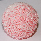 Материалы для творчества handmade. Livemaster - original item Silicone mold for soap Bowl of roses large. Handmade.