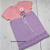 Работы для детей, handmade. Livemaster - original item Violet dress size 98-104. Handmade.