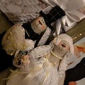 Куклы и игрушки ручной работы. Ярмарка Мастеров - ручная работа Свадебные зайцы. В наличии и под заказ. Handmade.