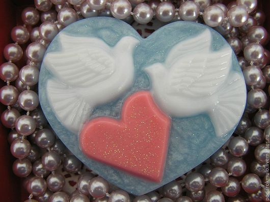 Мыло ручной работы. Ярмарка Мастеров - ручная работа. Купить Влюбленные голуби. Подарок влюбленным. Подарок на любой случай.. Handmade.