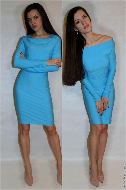 """Платья ручной работы. Ярмарка Мастеров - ручная работа. Купить Платье """"Белла"""". Handmade. Бирюзовый, платье, облегающее платье"""