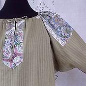 """Одежда ручной работы. Ярмарка Мастеров - ручная работа Женская длинная поликовая рубаха """"Травушка"""". Handmade."""