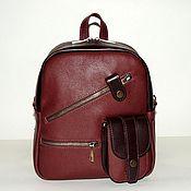 Сумки и аксессуары handmade. Livemaster - original item Backpack leather womens maroon