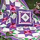 Текстиль, ковры ручной работы. Ярмарка Мастеров - ручная работа. Купить Лоскутное одеяло и подушка  Фиалетовая сказка. Handmade.