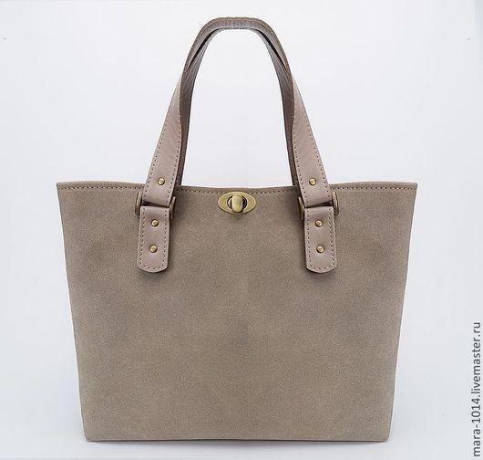 Женские сумки ручной работы. Ярмарка Мастеров - ручная работа. Купить VICTORIA bag , cумка комбинированная из замши и кожи. Handmade.