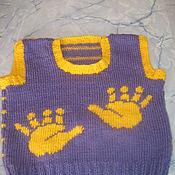 Работы для детей, handmade. Livemaster - original item Children`s safety vest with traces knitted. Handmade.