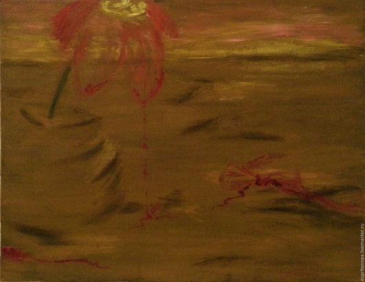 Символизм ручной работы. Ярмарка Мастеров - ручная работа. Купить А теперь - без бабочек. Картина маслом.. Handmade. Масло