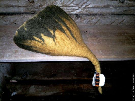 Банные принадлежности ручной работы. Ярмарка Мастеров - ручная работа. Купить Шапка для бани валяная Каштановый мед. Handmade. Хаки