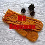 """Аксессуары ручной работы. Ярмарка Мастеров - ручная работа Варежки """"Жгуты"""" Мастер-класс по вязанию анатомически правильных рукави. Handmade."""