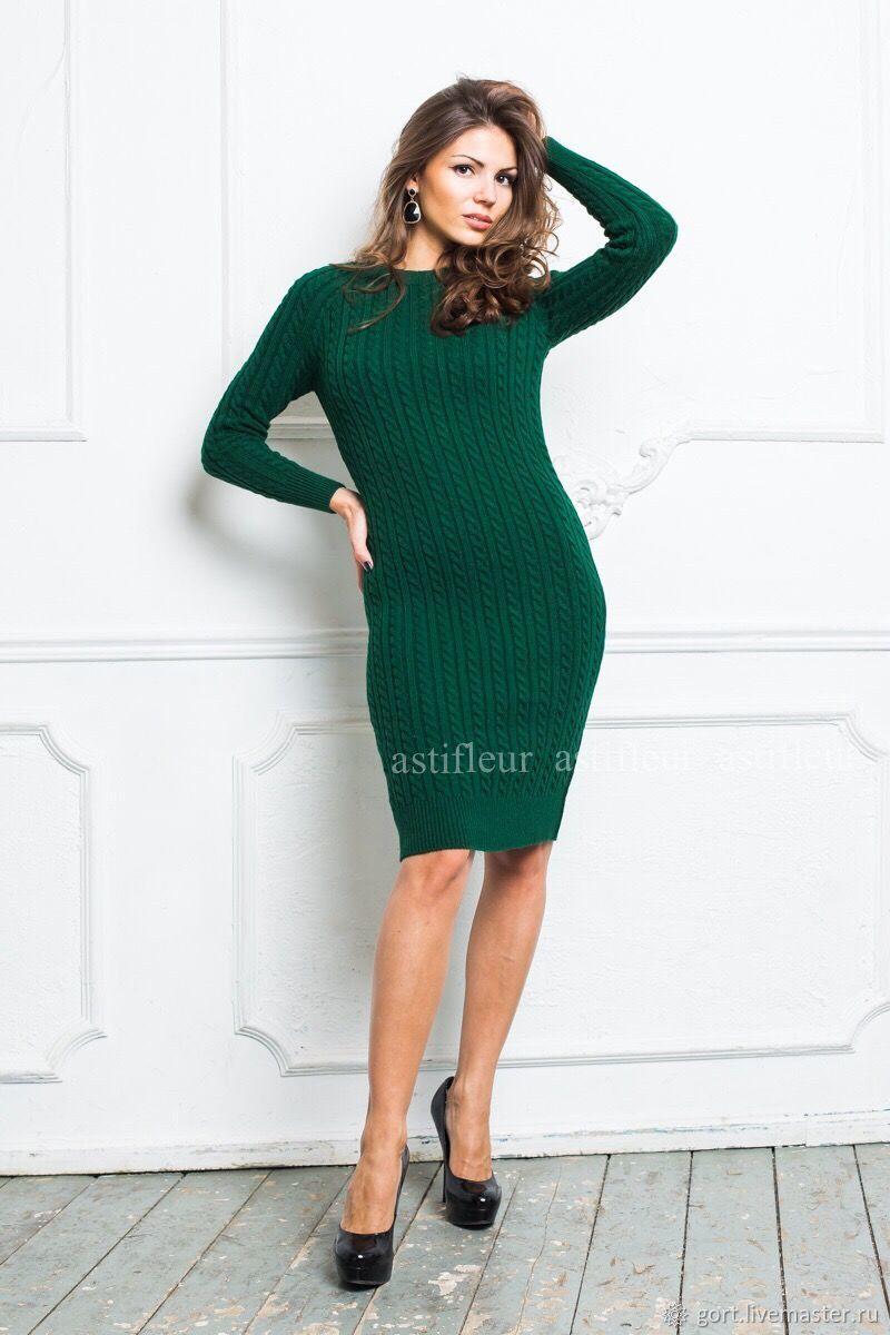 Платья темно-зеленого цвета