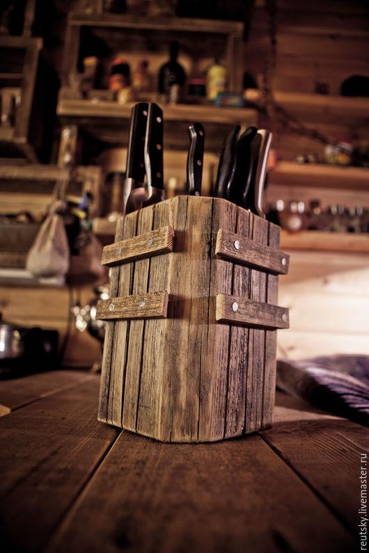 Кухня ручной работы. Ярмарка Мастеров - ручная работа. Купить Подставка для ножей. Handmade. Подставка, ножи, кухонная утварь из дерева