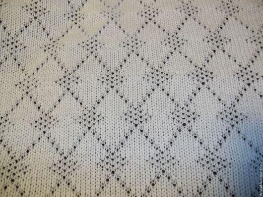 """Шитье ручной работы. Ярмарка Мастеров - ручная работа. Купить вязаное полотно """"Светлана"""" белый. Handmade. Белый, трикотаж"""