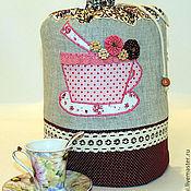 """Для дома и интерьера ручной работы. Ярмарка Мастеров - ручная работа Грелка на чайник. """"Цветочный чай"""". Handmade."""