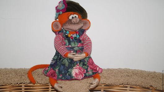 Игрушки животные, ручной работы. Ярмарка Мастеров - ручная работа. Купить обезьянка Жужа. Handmade. Рыжий, ручная авторская работа