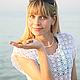 Пляжная туника, ажурное платье, белоснежное платье , лето, ручная работа, Орлова Елена