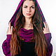 Большие размеры ручной работы. Шарф-свитер безразмерный, шарф с рукавами для любой фигуры! Цвета любы. Одежда для женщин шикарных размеров (seanna12). Ярмарка Мастеров.