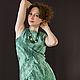 """Платья ручной работы. Ярмарка Мастеров - ручная работа. Купить """"Далекий шепот прибоя"""" - авторское платье. Handmade. Валяное платье"""