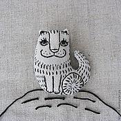 """Украшения ручной работы. Ярмарка Мастеров - ручная работа Брошь """"Жил-был кот Колоброд """". Handmade."""