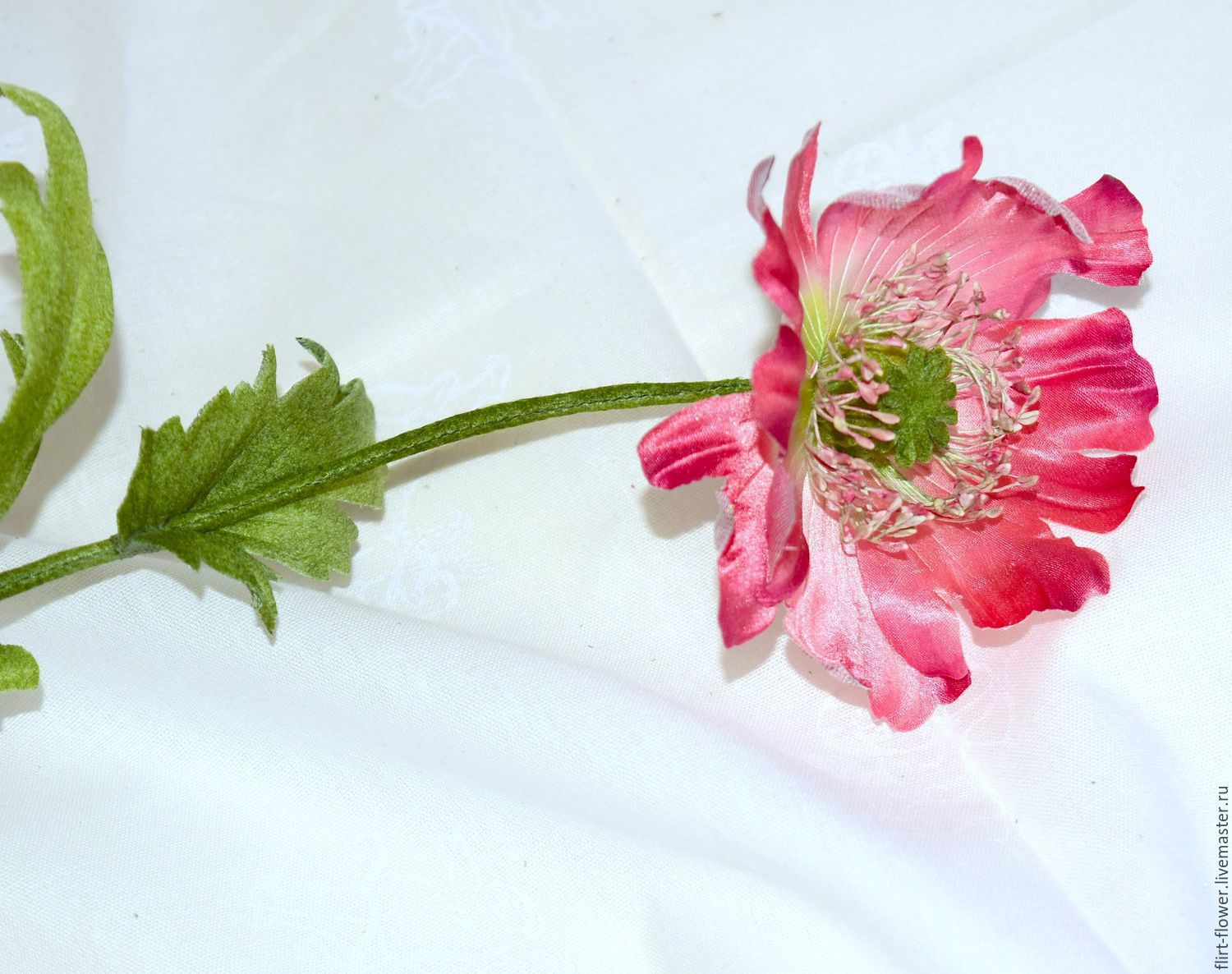 Red Poppy From Japanese Silk Shop Online On Livemaster With