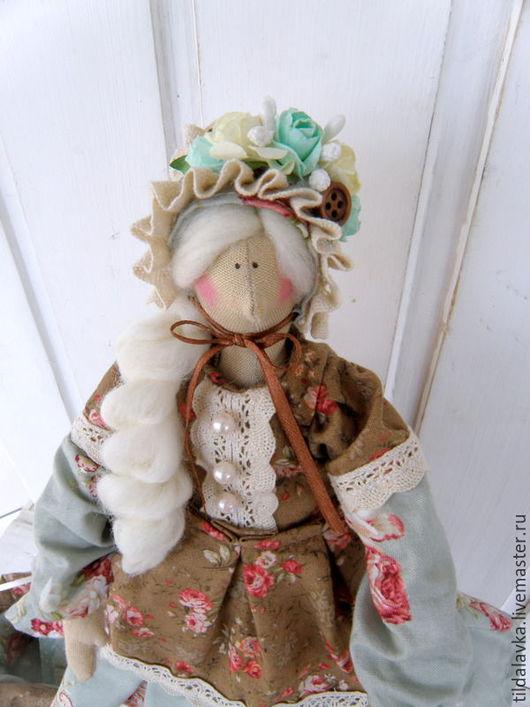 """Куклы Тильды ручной работы. Ярмарка Мастеров - ручная работа. Купить Чайная дама """"Агата....шоколадно-карамельный бисквит"""". Handmade."""