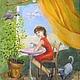 Люди, ручной работы. Ярмарка Мастеров - ручная работа. Купить Весеннее настроение Картина холст масло. Handmade. Кот, картина