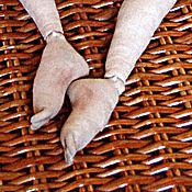 Материалы для творчества ручной работы. Ярмарка Мастеров - ручная работа Видеоурок Ножка куклы с отдельным пальчиком. Handmade.