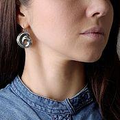 Украшения handmade. Livemaster - original item Earrings Aura water spiral. Handmade.