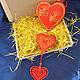 Комплект из трех разных сердечек