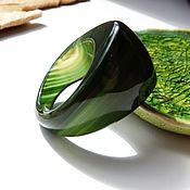 Украшения handmade. Livemaster - original item A ring of green chalcedony Marsh grass 19.5 R-R. Handmade.