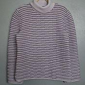 Пуловеры ручной работы. Ярмарка Мастеров - ручная работа Пуловеры: пуловер с рельефным узором. Handmade.