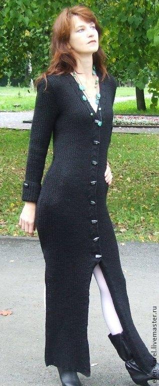 Верхняя одежда ручной работы. Ярмарка Мастеров - ручная работа. Купить Черный Шик Пальто. Handmade. Черный, пальто из шерсти