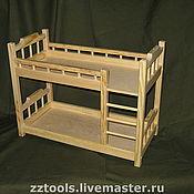 Мебель для кукол ручной работы. Ярмарка Мастеров - ручная работа Кроватка двухъярусная для кукол. Handmade.